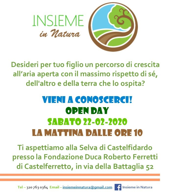 """Open day """"Insieme in natura"""""""